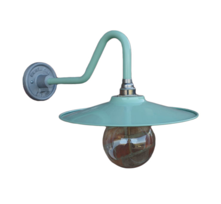 Coolie Wall light in Pistachio Green by Gravel Hill Lighting