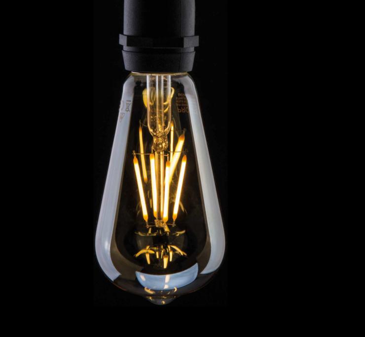 ST64 LED clear light bulb